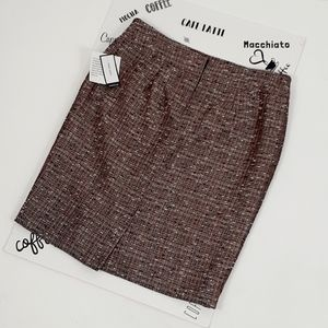 Nine West copper tweed pencil skirt NEW size 12